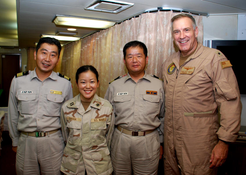 New page 0 onboard japanese ship harusame dd 102 at sea in the gulf of aden l r capt arihara commander japanese maritime self defense sciox Gallery