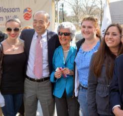 Anna Yusov,  Ambassador Sasae, Jodie Bernstein, Olivia Magnussen, and Adrienne Coulter.