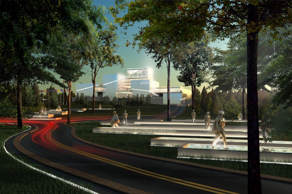 Architectural Rendering of New National Museum of the US Army.  Photo furnished by Army Museum Foundation Website
