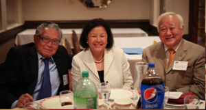 Dr. Ray Murakami, Irene Hirano Inouye, and Gerald Yamada. Photo by Bruce Hollywood.
