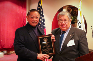JAVA President Wade Ishimoto (L) and The Honorable Ed Chow